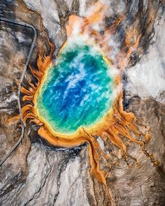 Seeing inside the world  | Grand Prismatic Spring |  Stevin Tuchiwsky Photography Say Yes To Adventure