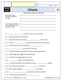 Free Differentiated Worksheet For The Bill Nye The Science Guy Climate Episode Free Worksheet Video Guide Science Guy Bill Nye Bill Nye Science Guy