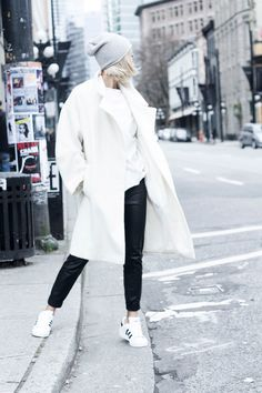 white for winter #wewantsale #white #streetstyle