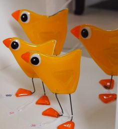 Fused glass birds  Galleri - Glaskunst