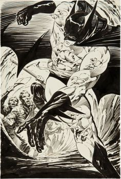 Bernie Wrightson Batman: The Cult Promotional Poster Illustration Original Art