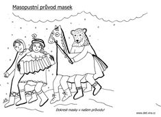 masopust omalovánky - Hledat Googlem Winter Art, Craft Activities, Snoopy, Mickey Mouse, Education, Comics, Disney, Crafts, Fictional Characters