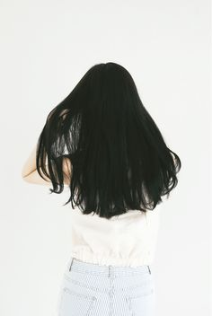 Long black hair, similar in color to mine.