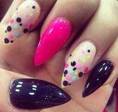 nice colours on stiletto nails Fabulous Nails, Gorgeous Nails, Fancy Nails, Trendy Nails, Nail Art Designs, Nail Design Spring, Pointy Nails, Easter Nails, Manicure E Pedicure
