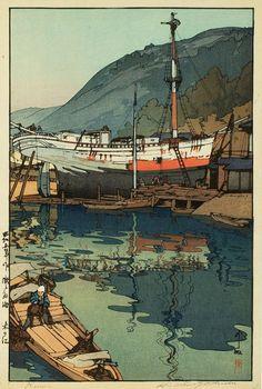 Field Of Vision: Hiroshi Yoshida boat in dry dock, Kinoe