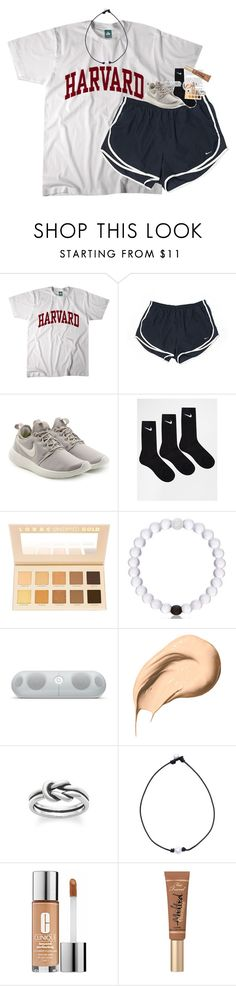 """so ready for vday and my birthday"" by classynsouthern ❤ liked on Polyvore featuring NIKE, LORAC, Beats by Dr. Dre, Bobbi Brown Cosmetics, Avery, Clinique and Too Faced Cosmetics"
