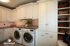 Sometimes with the busyness of the season, it's nice to get a way to do some of the routine things of life. This laundry room would make that an easy choice....
