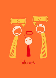 This print that nails what it feels like to be an introvert.