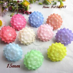 12PCS Acrylic Rhinestone Shank Buttons Sewing Craft DIY 5 Types Mixed 11MM New