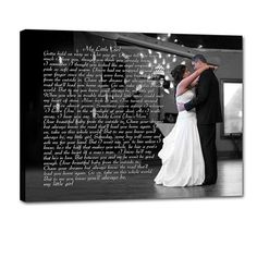 Daddy Daughter Dance Photo With Song Lyrics Printed Next To It