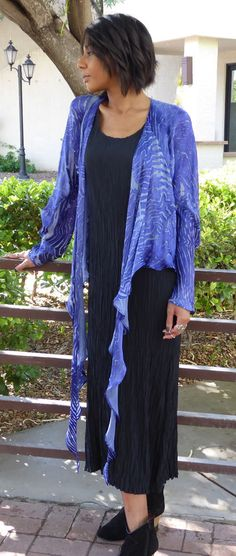 NWT Carter Smith Cut Satin shibori D Jacket in Purple one size Carter Smith, Shibori, Blouses For Women, Kimono Top, Satin, Purple, Best Deals, How To Wear, Jackets