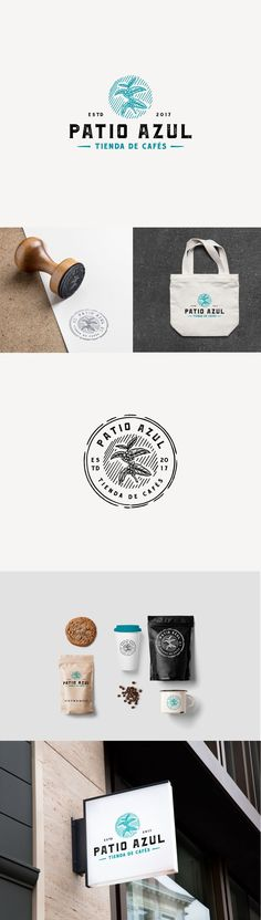 """Check out this @Behance project: """"Patio Azul Specialty Coffee Logo"""" https://www.behance.net/gallery/51672651/Patio-Azul-Specialty-Coffee-Logo"""