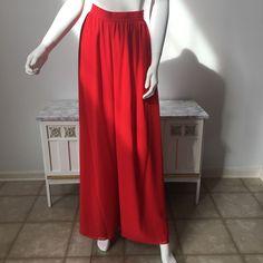 Vintage Lipstick Red Bill Blass Pilazzo Bell Harem Pants.   | eBay