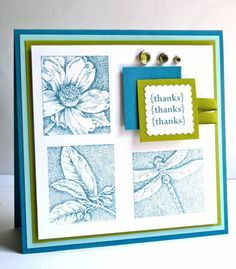SUO, Thanks x 3... by Luv Flowers - Cards and Paper Crafts at Splitcoaststampers