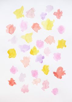DAY 29 - Simple aquarelle flower pattern. #oneartythingaday #day29 #aquarelle #flowers #pattern by britt jönsson