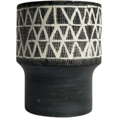 Etched ceramic with tribal print