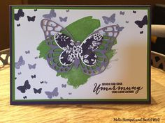 Stampin Up, Schmetterlinge, Schmetterlingsgruß, Butterfly, Perpetual Birthday Calendar