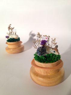 spotted deer#ceramic#spotteddear#dryflower#decoration#tagged#name#diy#miniature#jar#holdmewithlove