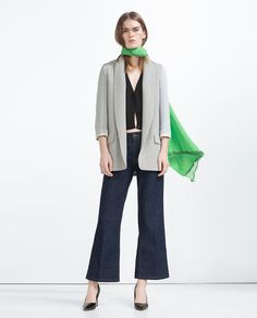 Image 1 of LONG BLAZER from Zara
