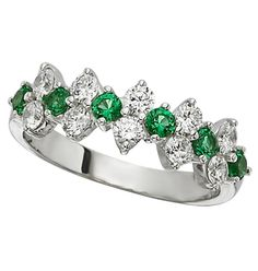 A particular favorite of mine.  The color in these emeralds is so clean and clear with rich color.