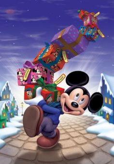 mickey with gifts