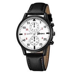 c5b6ceaf8db Relógio Slim com Pulseira de Couro Ecológico  moda  modamasculina   modasocial  acessórios