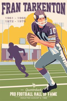 Fran Tarkenton, Vikings poster artwork for the US Bank Stadium Collection by Steve Thomas. Equipo Minnesota Vikings, Minnesota Vikings Football, Best Football Team, Football Art, Vintage Football, National Football League, Pittsburgh Steelers, Dallas Cowboys, Nfl Hall Of Fame