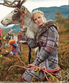 Anthropologie, you have really outdone yourselves this time! Snow Queen, Shield Maiden, Scandinavian Fashion, Winter Wonder, Ballet, Nordic Style, Character Inspiration, Beauty Women, Reindeer