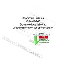 05-WP-244 - Geometric Puzzles Downloadable Yard Art Woodcraft Pattern PDF