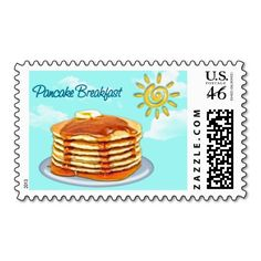 Pancake Breakfast Sun, Sky  Clouds Postage Stamps