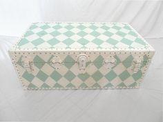 Vintage Harliquin trunk
