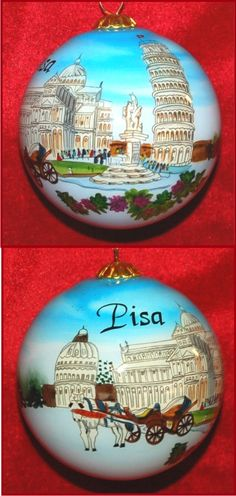 For the Love of Italy: Pisa Christmas Ornament Personalized