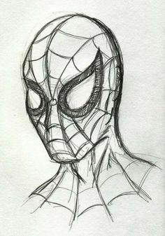Pencil Drawing Spiderman drawing - Visit to grab an amazing super hero shirt now on sale! Superhero Sketches, Drawing Superheroes, Marvel Drawings, Disney Sketches, Disney Drawings, Cartoon Drawings, Easy Pencil Drawings, Art Drawings Sketches, Cool Drawings