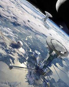 #empireoffuture #empirefuture #concept #art #scifi #cyberpunk #fantasy #hd #wallpaper #space #lift #future #earth #planet #moon #dark #night #water #sky #top #white #atmosphere #star #movie #cinema #game #new #amazing #style #instagram