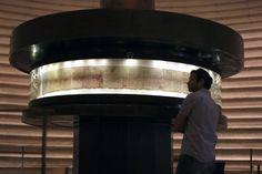 Israel Shrine of the Book Museum displays Dead Sea Scrolls - Book of Isaiah