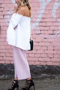 Pleated Blush Culotte