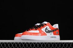Cheap Nike AF1 Air Force 1 07 Red White Black Casual Shoes CW2288-112-1 Air Force 1, Nike Air Force, Black Casual Shoes, Nike Af1, Cheap Nike, Red And White, Sneakers, Tennis, Slippers