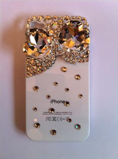 Bling Rhinestone Pink Phone Case Jewel Bow for by BlingFairy, $29.00