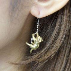 Cat rings bell pierce by hoashiyusuke