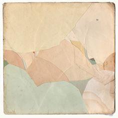 Kawéskar -  Collage on card, 180x180mmSOLD