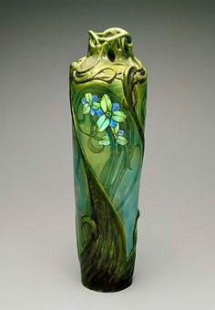 Art Nouveau Vase – Edmond Lachenal, 1900 The Indianapolis Museum of Art