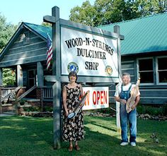 """Wood-N-Strings Dulcimer Shop in the Smoky Mountains (Townsend, TN), check their website for concerts on the """"Pickin' Porch"""", browse for dulcimers ($0)"""