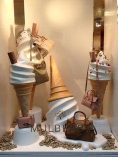 """Mulberry windows at Banner Boutique Biffi"" Visual Merchandising Fashion Window Display, Window Display Design, Store Window Displays, Display Windows, Retail Displays, Visual Merchandising Displays, Visual Display, Retail Windows, Store Windows"