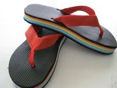 not my ideal flip flops but retro nonetheless :) summer in the eighties
