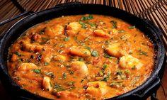 "Bobó de Camarão, shrimp ""bobó"", which is a manioc cream with spices and shrimps. A typical dish from Bahia."
