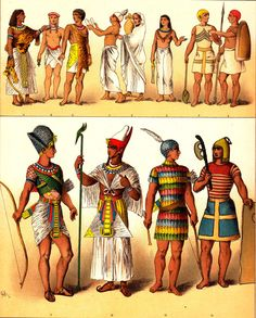 Ancient Egypt PL2 Clothing Styles Chromolithograph 1906