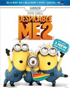 Amazon.com: Despicable Me 2 (Blu-ray 3D + Blu-ray + DVD + Digital HD with UltraViolet): Steve Carell, Benjamin Bratt, Kristen Wiig, Miranda ...