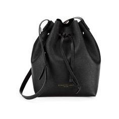 Kenneth Cole New York Dover Street Saffiano Leather Bucket Bag (€155) ❤ liked on Polyvore featuring bags, handbags, shoulder bags, accessories, bolsas, purses, black, hand bags, man shoulder bag and bucket bag