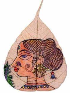 This gorgeous leaf art originated in a small town in India and is done on dry Peepal leaves. This artwork is one of the oldest forms of art, and only a few people around the world are left that create this form of art.