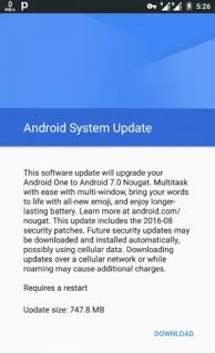 Android 7.0 Nougat Update Jackhammer Android One Smartphones